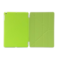 Fashion color 11 folded styles Slim smart cover case PU Leather back cover housing replacement for ipad air/5