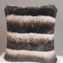 luxury european white black stripe printed fake fur couch car seat cushion covers
