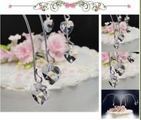 Heart Shape Hanging Crystal Wedding Cake Topper Cake Drops