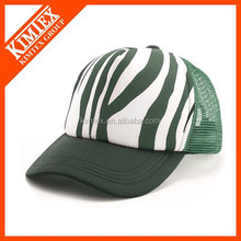 new style printed 100% polyester trucker cap and hat