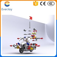 EverJoy 2015 New 2 Wheels Plastic Mini Electric Motorcycle With Building Puzzles