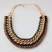 European and American original single female fashion Woven Necklace N3933