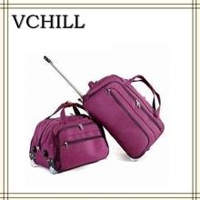 Purple Stylish trolley travel bag for women