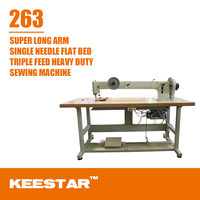 Keestar 263 heavy duty super long arm industrial overlock sewing machine for sale