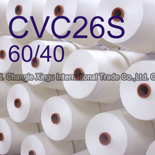Fujian Changle 26S CVC 60/40 polyester cotton yarn
