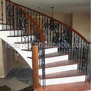 Cast wrought iron spiral staircase railing design buy - Spiral staircase wrought iron ...