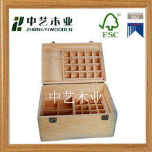 natural hinged wholesale China professional custom handmade essential oil wooden boxes