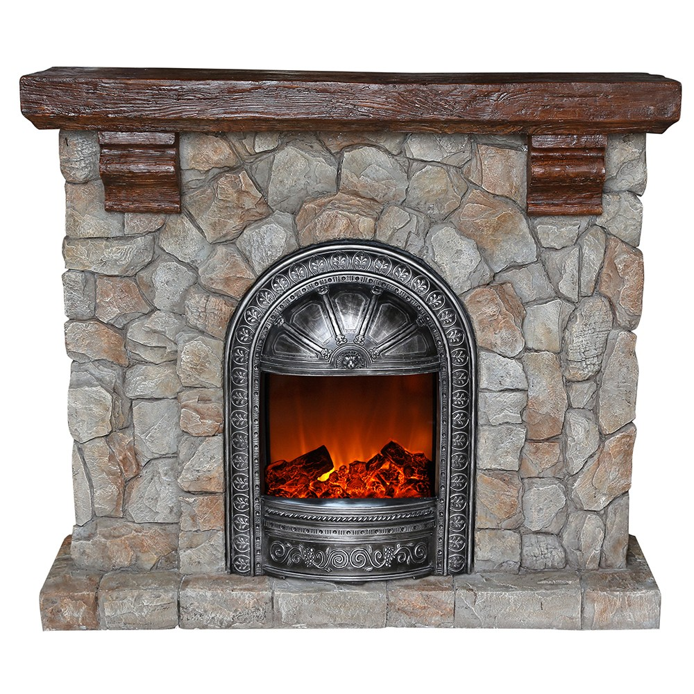 Pierre effet faux flamme foyer électrique avec faux pierre ...