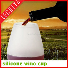 Hot new product innovative best quality silicone flexible soft wine glass