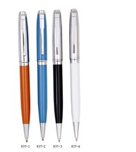 China factory stainless steel metal ballpoint/ball pen, silver, black, white, gold color pen, promotional gift pen, BP-837