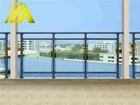 YT-012 modern home outdoor/indoor laminated glass balcony railing & stairway design