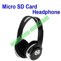 Fashionable convenient Both Wired And Wireless Micro sd card player headphones