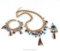 2015 Trendy Design gold indian polki fashion bridal jewelry set