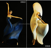 resin arts and craft activities,home decor statues of dancing figurine
