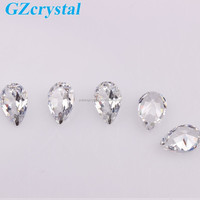 Newest teardrop zircon semi precious stone for jewelry