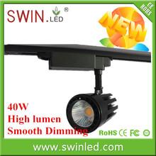 Back colour COB LED track light 40W CRI>85 global universal track system LED track light ,2wires/3wires/4wire