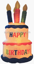 inflatable giant 8' birthday cake replicate