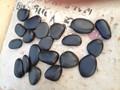 Noir poli naturel pierre de galets pour le jardin décoration
