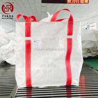 FIBC bag/1.5 ton jumbo bags/1 ton woven bulk bags/pp big bag with full belt and top filling spout Zhongrun manufacture