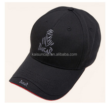 China supplier produce high quality golf cap with black color and sandwich