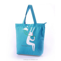 Hot sell standard size printed cotton canvas tote bag