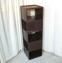Croco faux leather rectangle cd dvd display rack