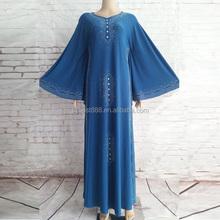 Servicio del OEM estilo casual prom barato árabe islámico mujeres se visten de 2015
