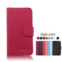 Mix color Lychee grain wallet leather flip case cover for Samsung galaxy J5