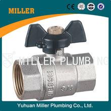 Yuhuan DN15,20,25,32,40,50,65,80,100,125,150,200,250,300 BSPPP/G/PF/K/BSPT/ZG/RC/PT brass ball valve ML-2007