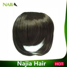100% human hair fashional bang hair extension 2pcs clips clip in bangs 30g/piece