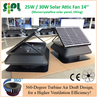 Strong Power Solar Attic Ventilation Fan 25W