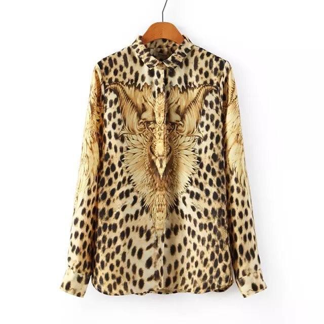 Шифоновая Леопардовая Блузка В Санкт Петербурге