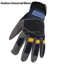 Durable comfortable fit Palm- microfiber Blue/Grey work waterproof mechanics gloves
