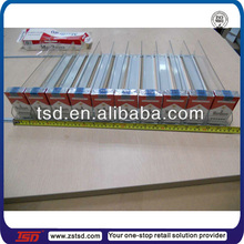 plastic storage trays with dividers/ divider tray/spring pusher