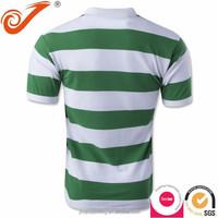 China soccer jersey manufacturer,big size soccer jerseys striped green&white custom soccer jersey