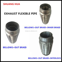 hot selling flexible pipe, stainless steel 201/304 bellows, auto exhaust pipe