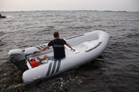Liya qingdao RIB420 inflatable boat china rib boat fiberglass open fishing boat