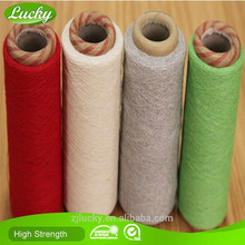 Cnlucky factory recycled 65/35 pc fabric yarn for knitting fabric/curtain