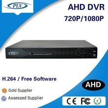 Hybrid 4ch 8ch 16ch 720p 1080p free client software h.264 ahd dvr