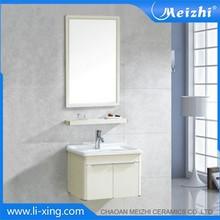 Bathroom aluminum bathroom corner cabinet white
