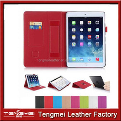 For iPad Mini 3 Cases with hand strap,card slot leather case for ipad mini 3 custom available