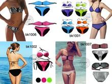 Bikini 2015 With Zipper Sublimation Logo-printing Women Secret XXX Hot Sex Girl Micro Triangle Sexy Brazilian Bikini 2015