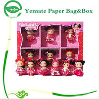 custom printed corrugated cardboard packaging box with window for Barbie package