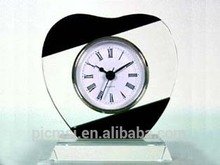 2015 hot sale cheap black and white classics crystal different shape clock and base for home decoration gifts