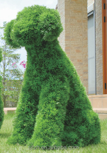Wholesale artificial topiary for sale artificial dog pet topiary fake grass animal