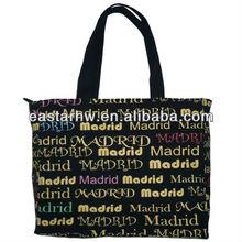 canvas bag with full english printing