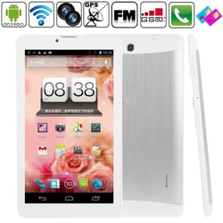 7 inch MTK6572 Dual Core 512 RB+4GB Android 4.4.2 Wifi Tablet Dual Core WiFi , Dual Camera Phone Tablet