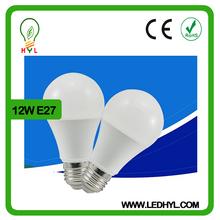 Popular 2600-6500k 2 years warranty 12w high lumen e27 base heat resistant bulb