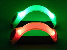 Arm Leg Band LED light Cycling Bike Run Warning Safety Wristband Light