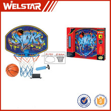 """Children indoor basketball stand plastic basketball back with 12cm rubber basketball and 6"""" inflator"""